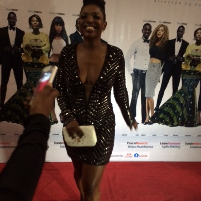 Checkout Annie Idibia's Provocative Outfit To Yvonne Nelson Movie Premiere
