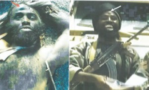 Picture of Abacha Geidam (aka Abubakar Shekau) which was released by the military in Abuja... on Wednesday