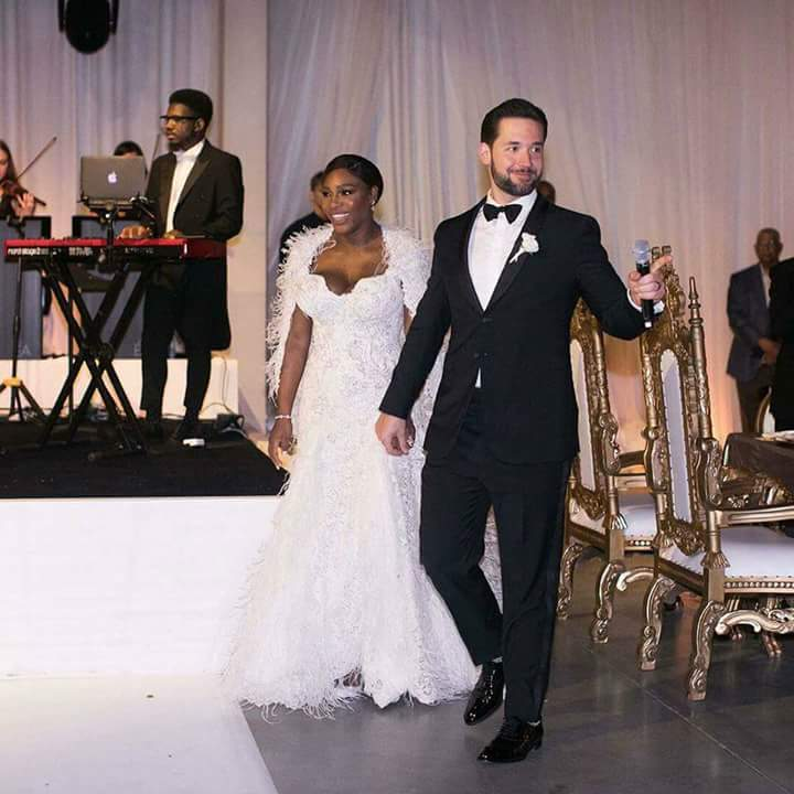SERENA WILLIAMS WEDS IN GRAND STYLE IN $2.6M WEDDING GOWN, HOW SHE MET HUSBAND