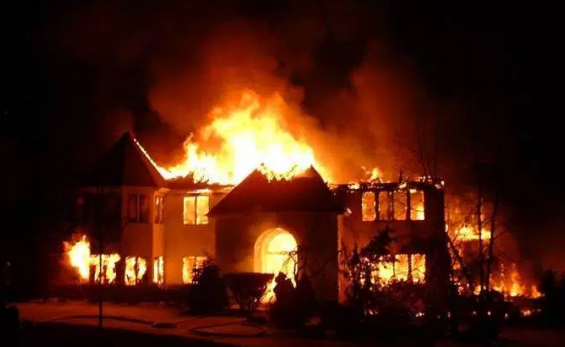 LANDLORD BURNS DOWN OWN HOUSE OVER TENANTS' REFUSAL TO PAY RENT