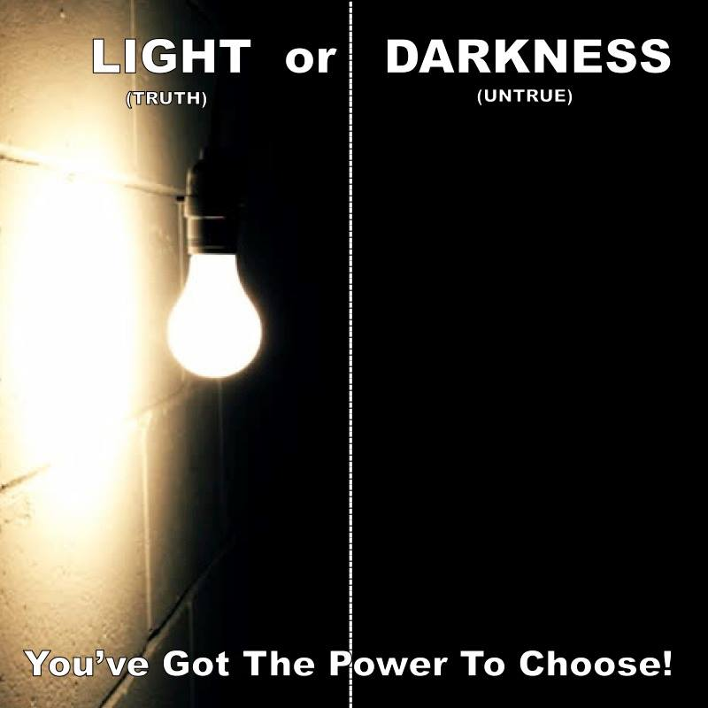 THE LIGHT VERSUS THE DARKNESS!  by SEYE ALUKO