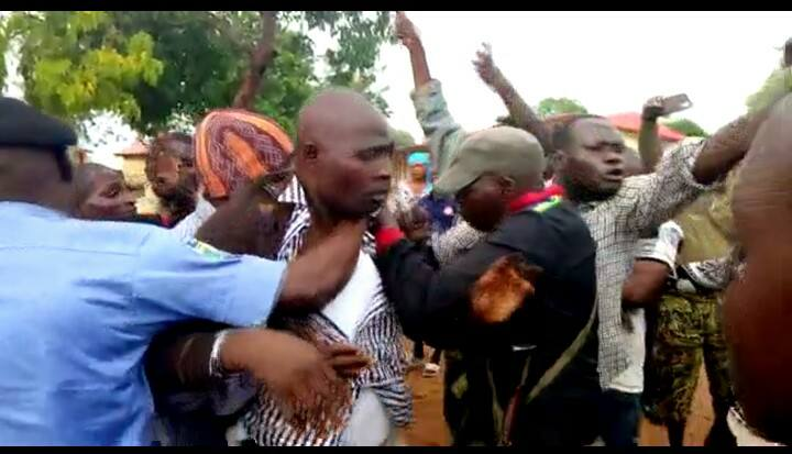 APC LAWMAKERS BEATEN BY MOB IN PRESENCE OF POLICE OVER ALLEGED STEALING OF ELECTORAL MATERIALS